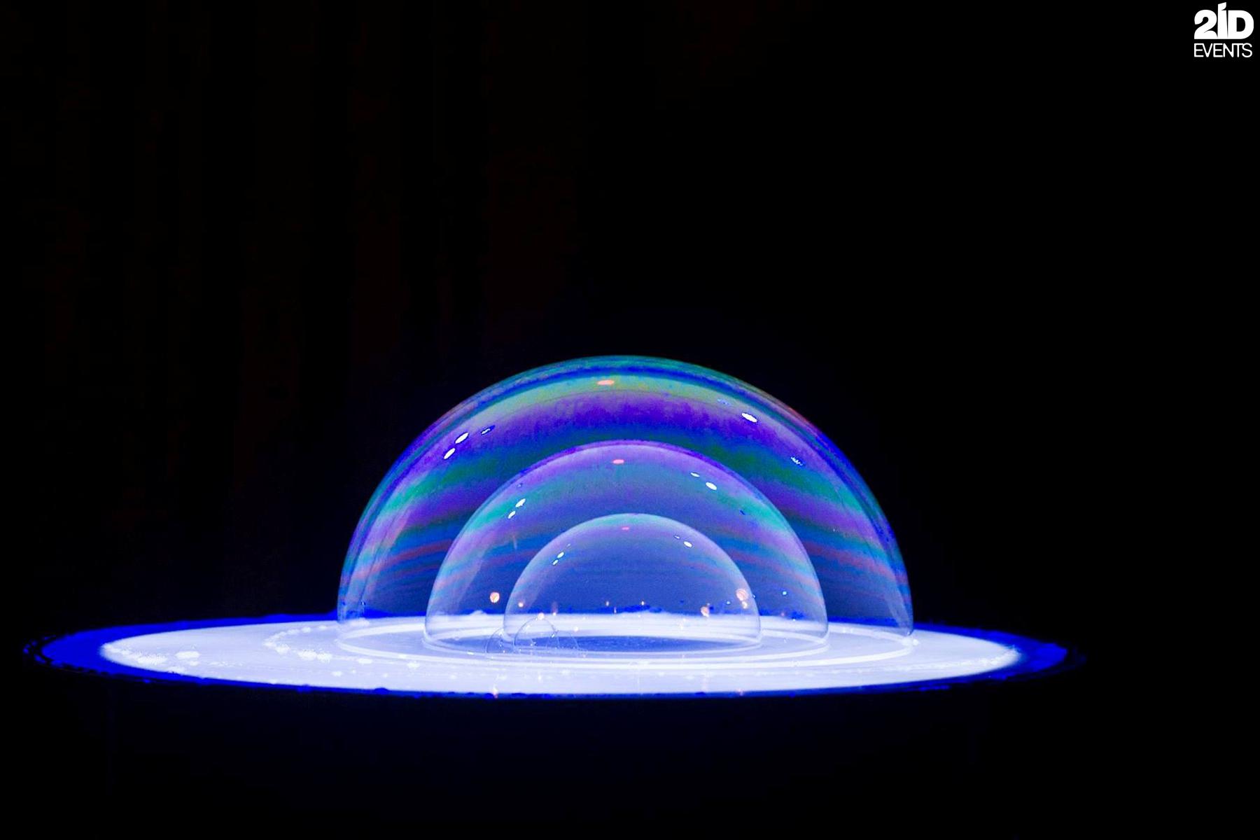 Bubble Art for gala dinner