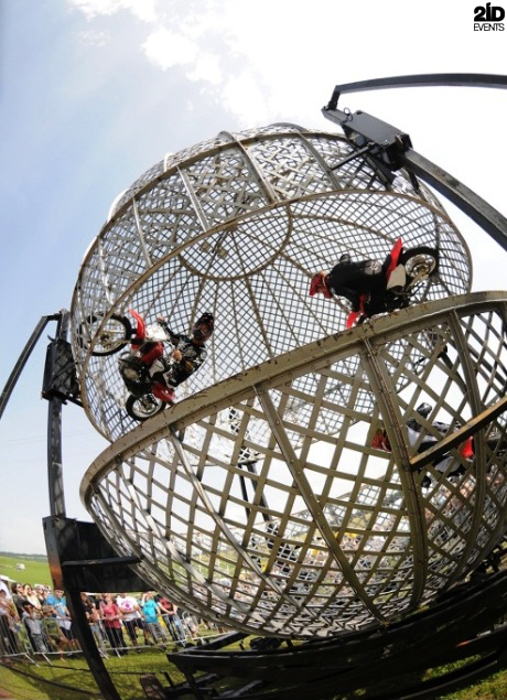 Steel Globe Motorcycle Stunt Show for festivals