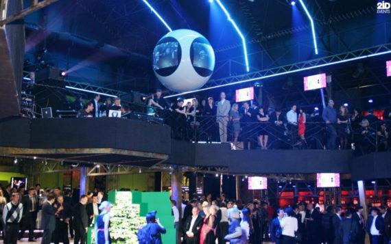 Futuristic Screen Globe for corporate events