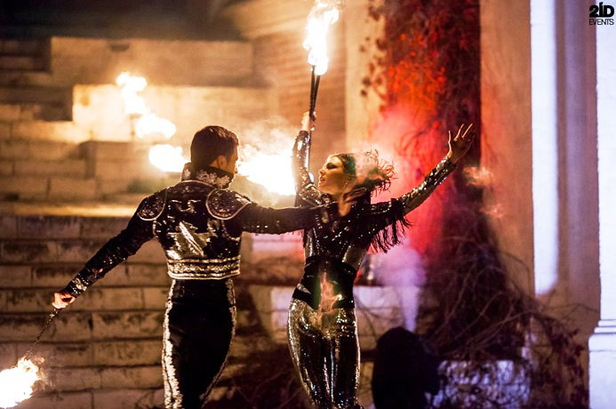 Theatrical Fire Show for themed events