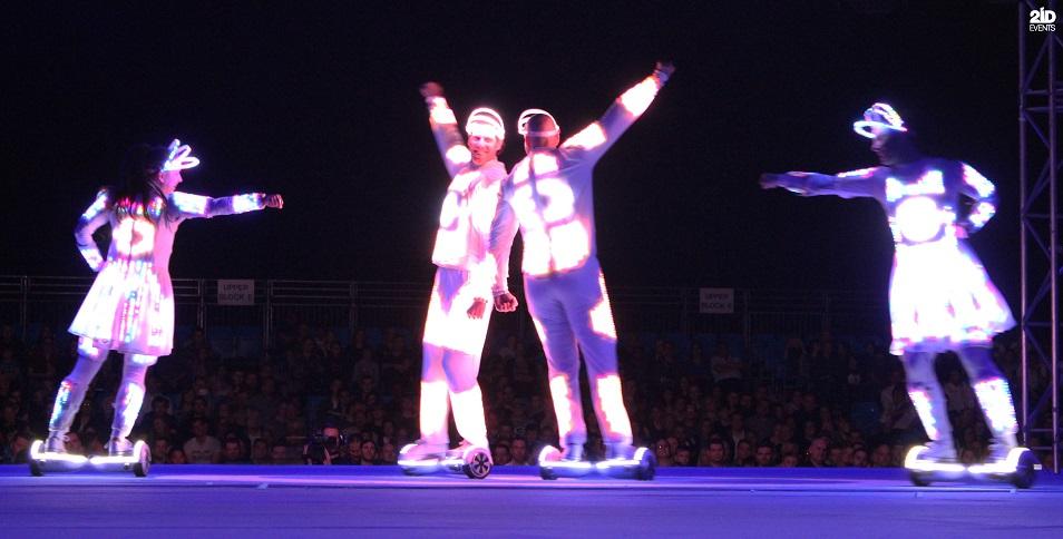 LED Hoverboard Group for festivals