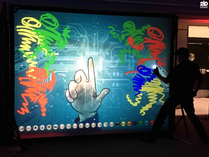 High-Tech Art for corporate events