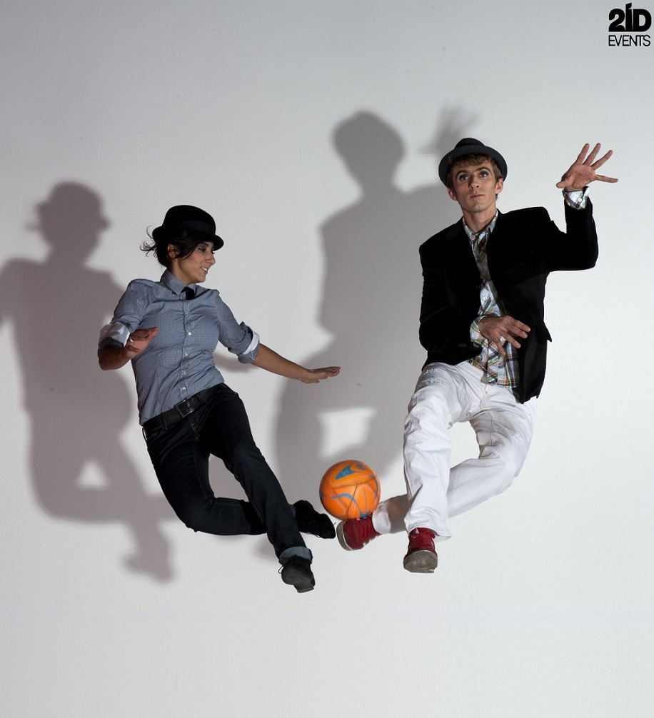 Football Freestyle Duo for corporate events
