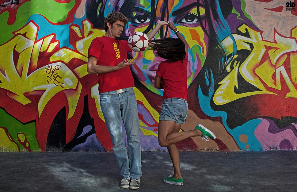 Football Freestyle Duo for street events