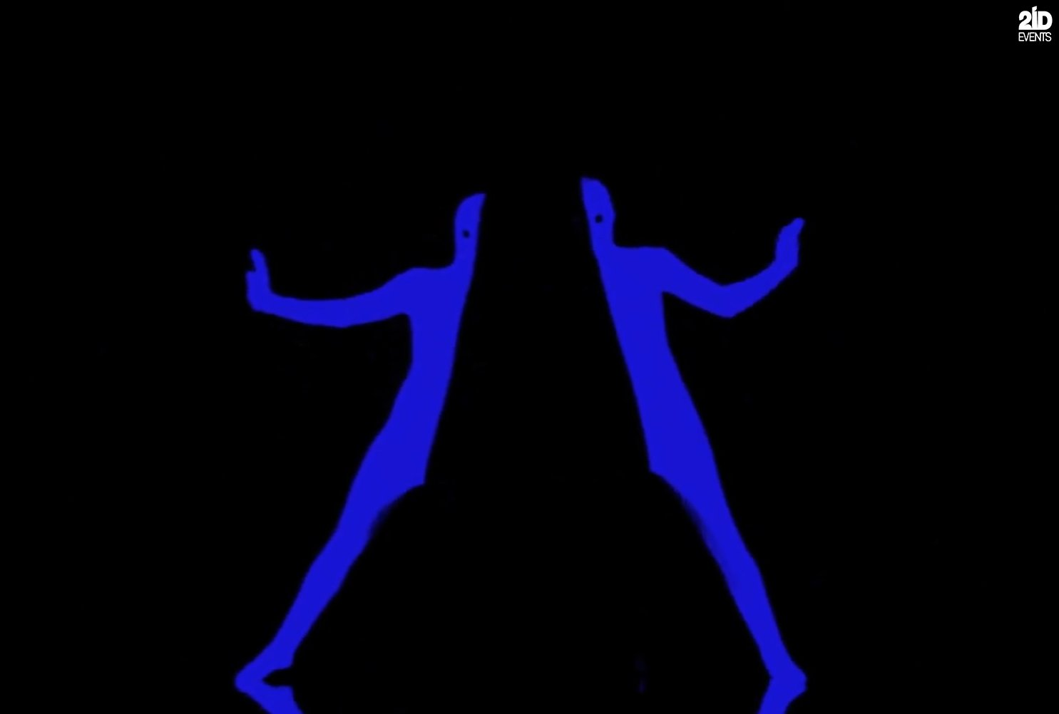 UV Glow Contour Pantomime for corporate events