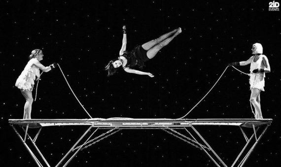 Female Trampoline Group for corporate events