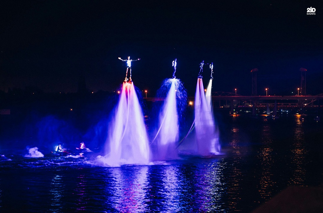 LED Flyboard Show for special events