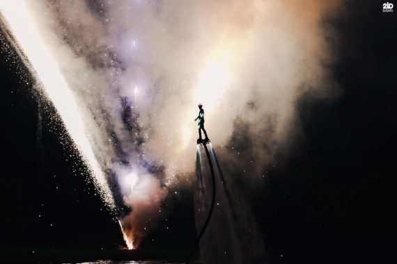 LED Flyboard Show for sport events