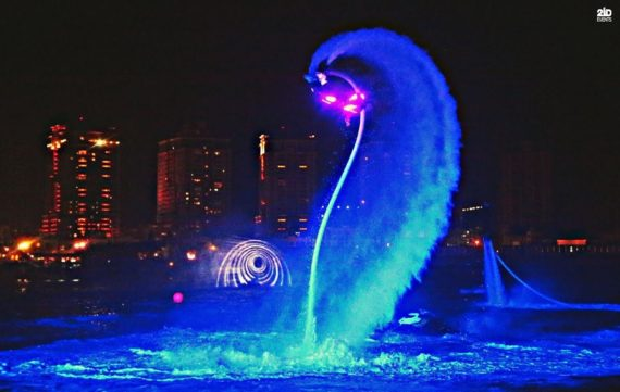 LED Flyboard Show for outdoor events