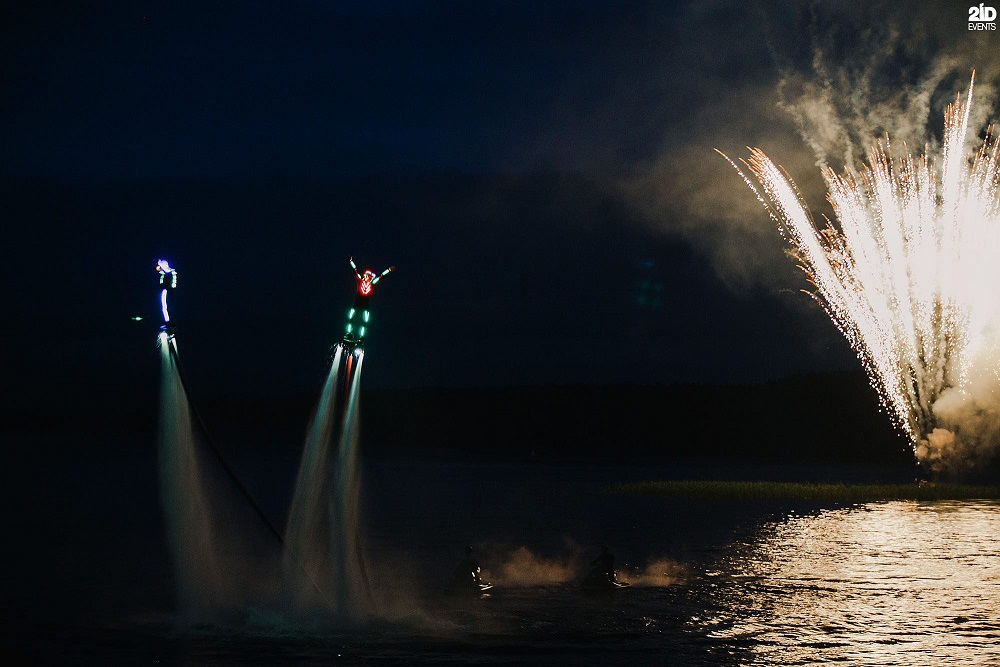 LED Flyboard Show for festivals