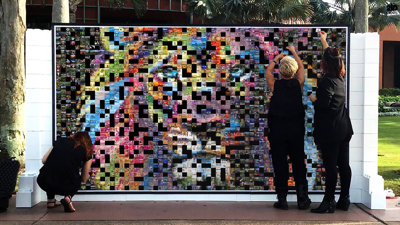 Photo Mosaic Wall for corporate events