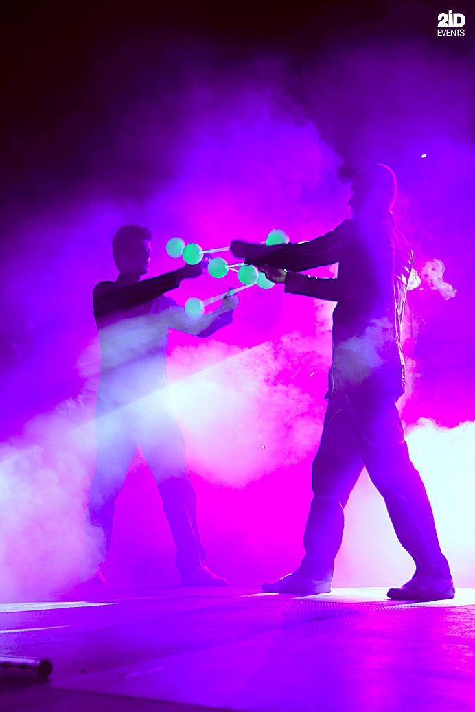 Neon Contact Illusion Show for corporate events