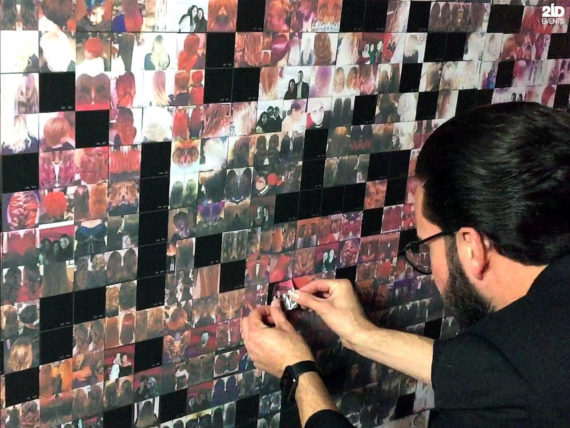 Photo Mosaic Wall for product launches