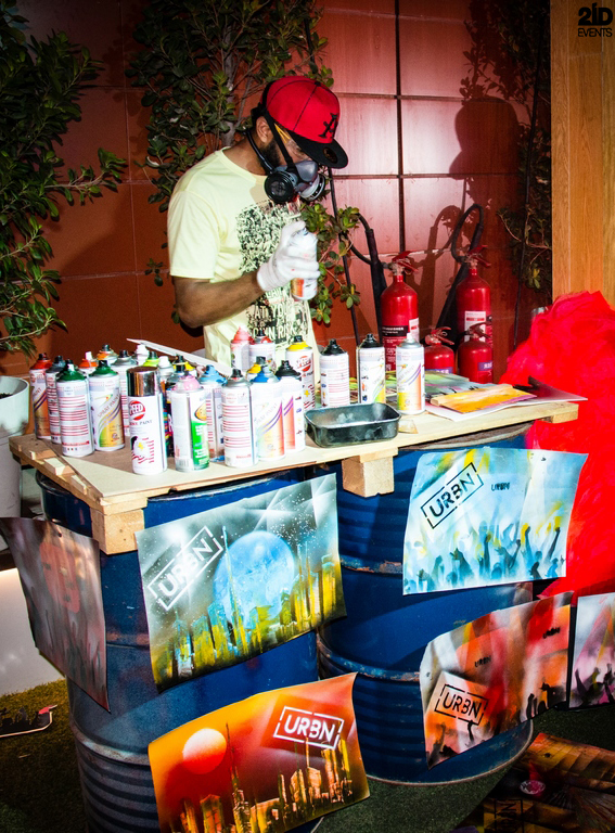 Spray Painter for brand promotion