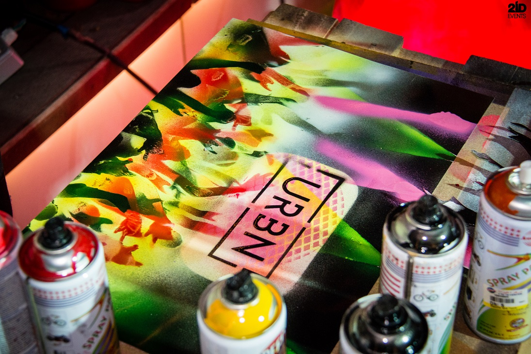 Spray Painter for corporate events
