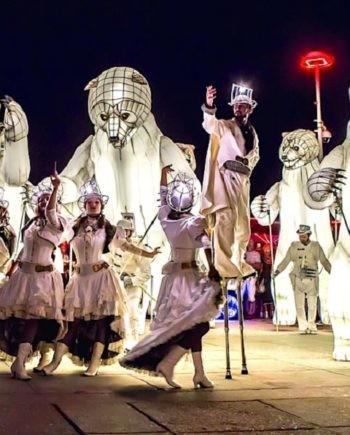 Futuristic Bears Parade in Dubai