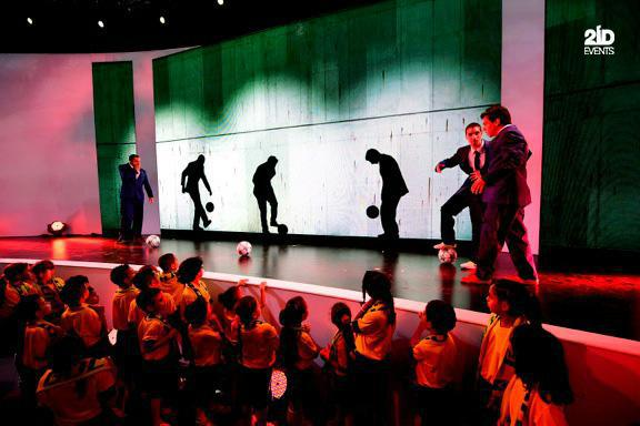 FOOTBALL SHOW WITH VIDEO PROJECTION IN DUBAI