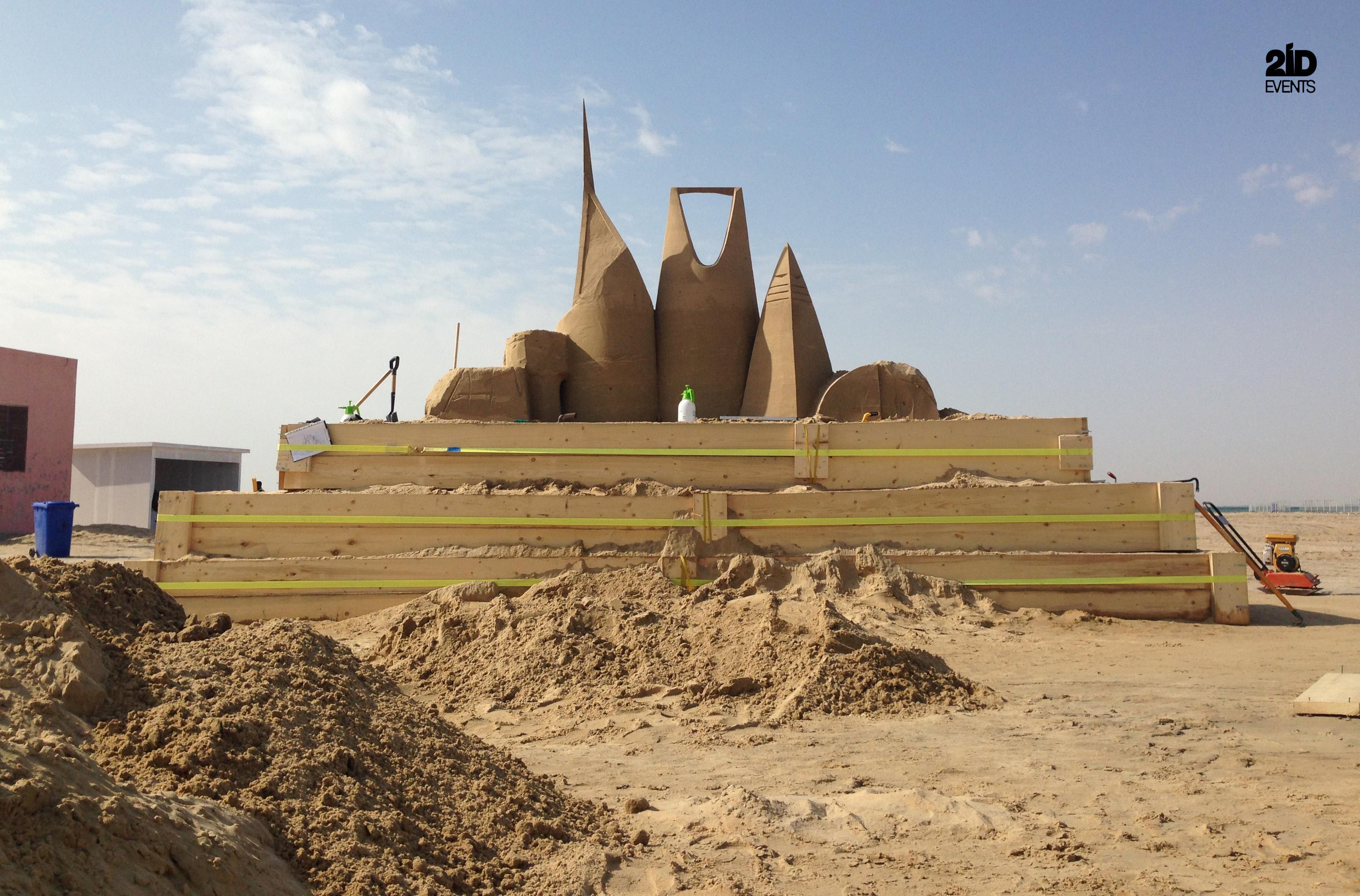 SAND SCULPTURE FOR FESTIVAL IN THE KSA