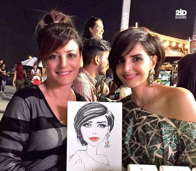 FEMALE CARICATURIST IN THE UAE
