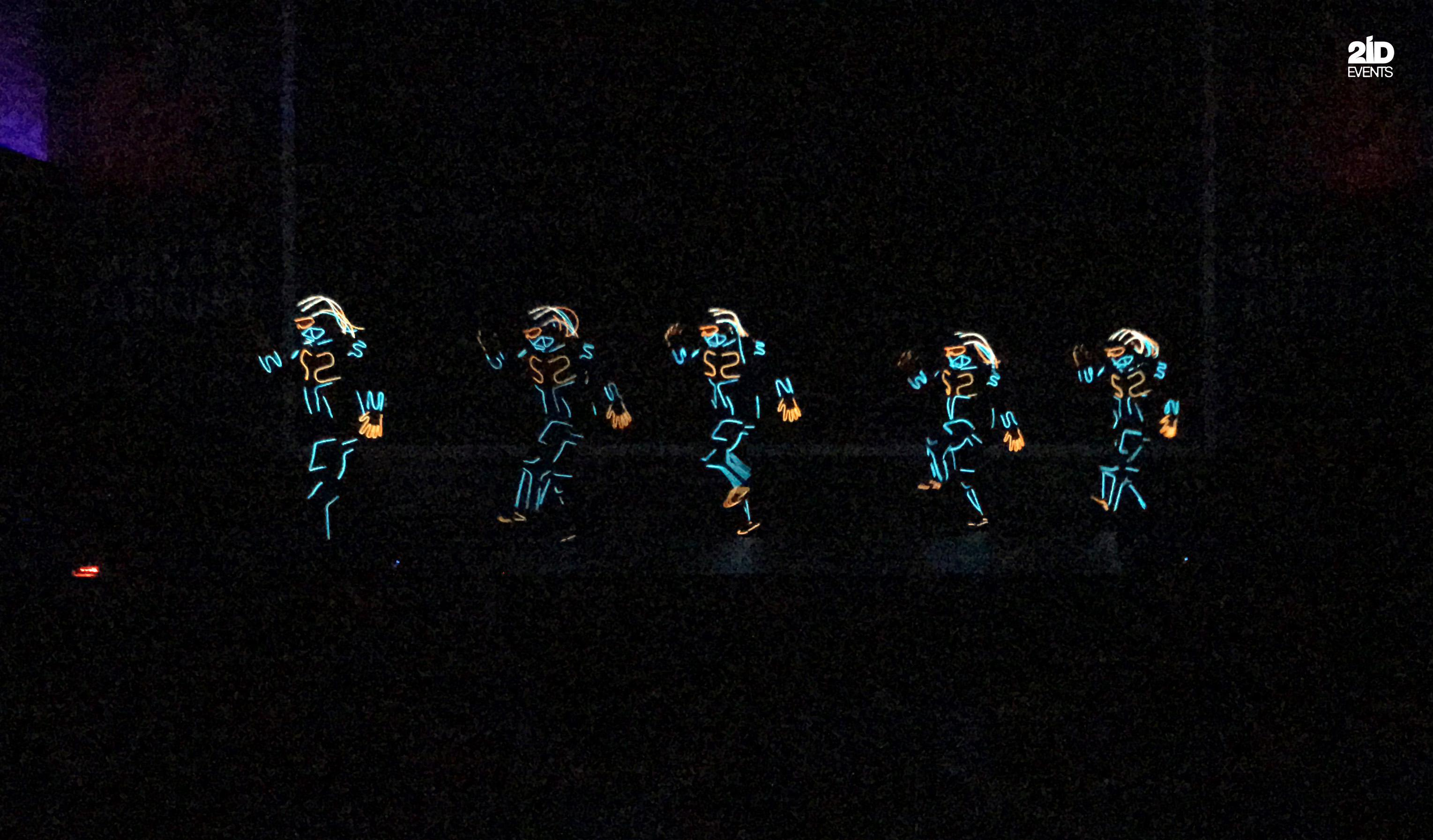 LED ROBOTS SHOW FOR ANNUAL EVENT