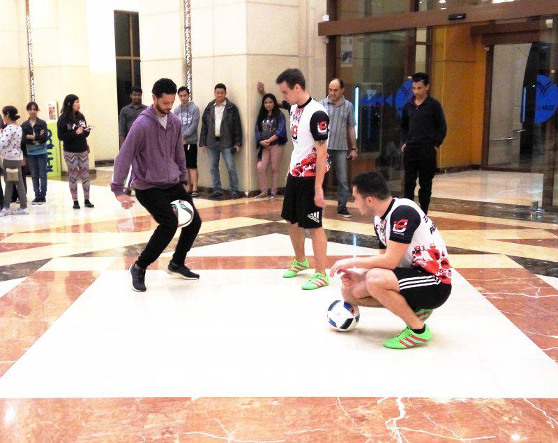 13 - FOOTBALL FREESTYLERS FOR PUBLIC EVENT IN ABU DHABI
