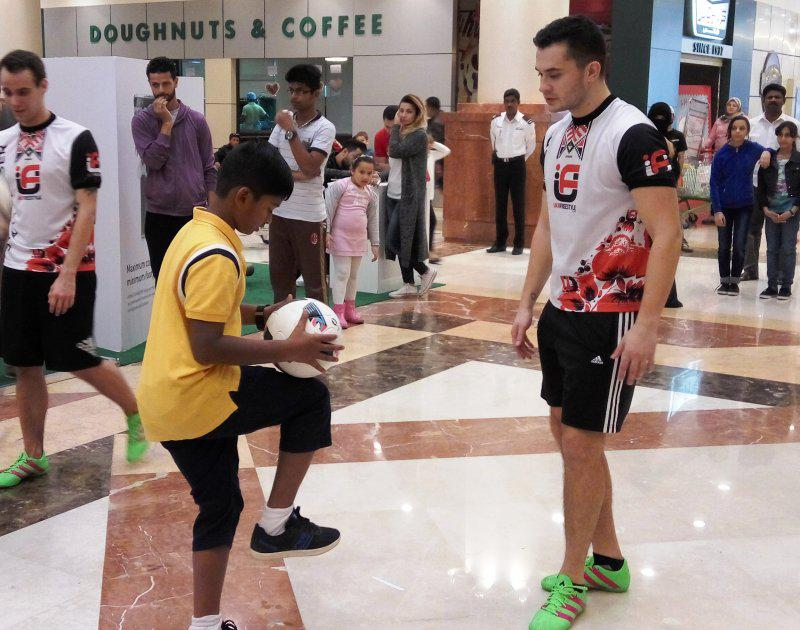 18 - FOOTBALL FREESTYLERS FOR PUBLIC EVENT IN ABU DHABI