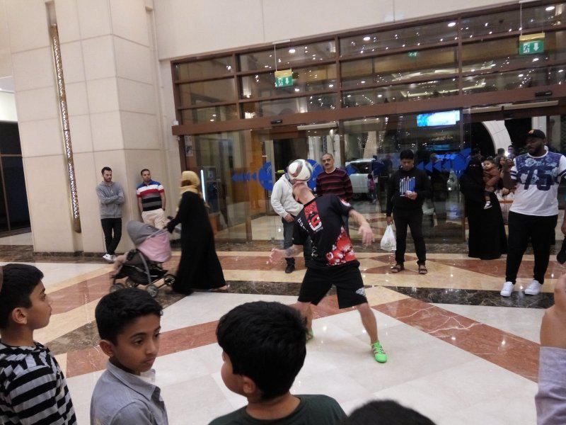2 - FOOTBALL FREESTYLERS FOR PUBLIC EVENT IN ABU DHABI