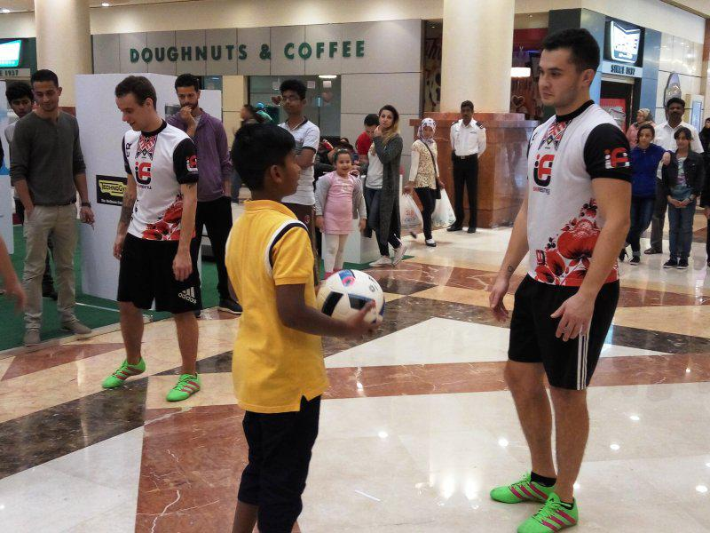 20 - FOOTBALL FREESTYLERS FOR PUBLIC EVENT IN ABU DHABI