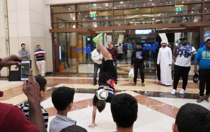 3 - FOOTBALL FREESTYLERS FOR PUBLIC EVENT IN ABU DHABI