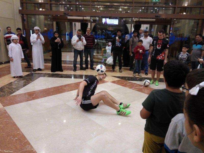 5 - FOOTBALL FREESTYLERS FOR PUBLIC EVENT IN ABU DHABI