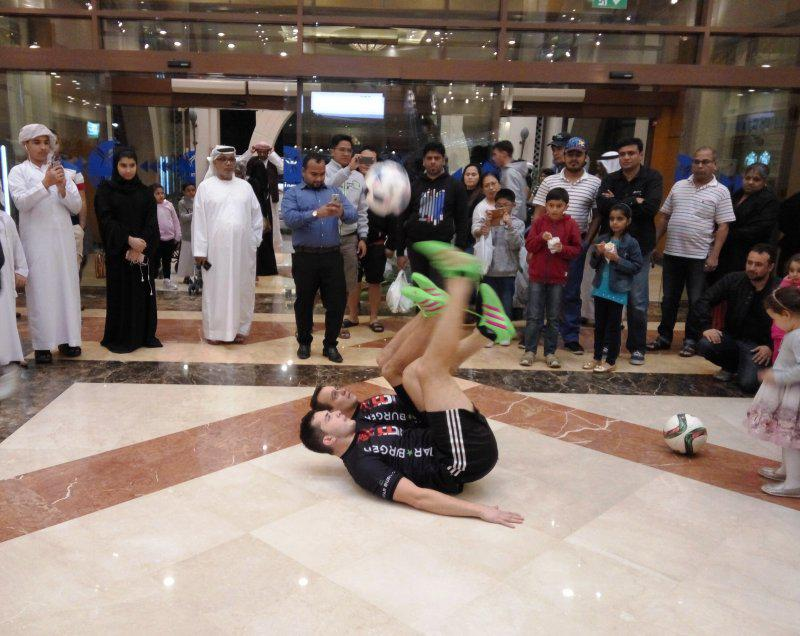 6 - FOOTBALL FREESTYLERS FOR PUBLIC EVENT IN ABU DHABI