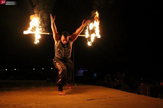 Fire show in Dubai