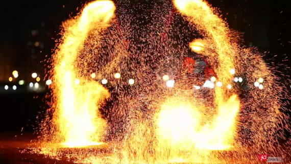 Flaming show in Dubai