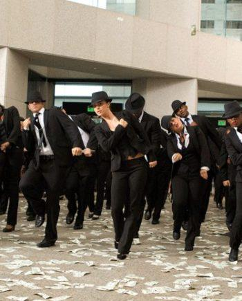 Flash mob in the UAE