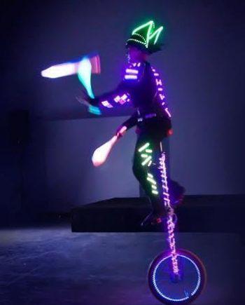 Circus show LED juggler in Dubai