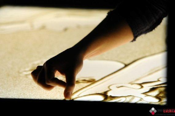 Sand animation in Dubai