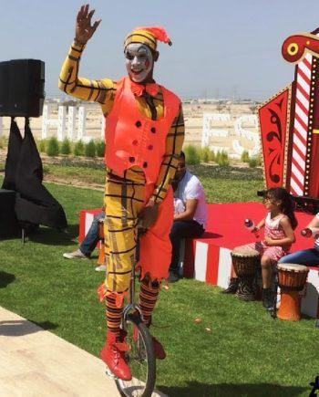 Unicycle artist in Dubai