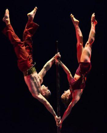 Acrobat duo - flag act in Dubai