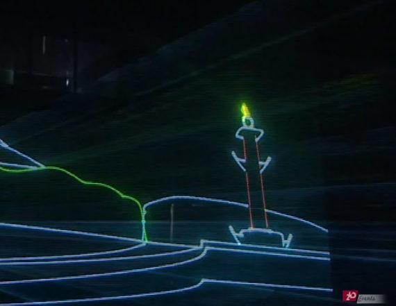Animated laser show in Dubai