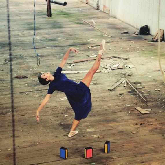 Female box juggler in Dubai