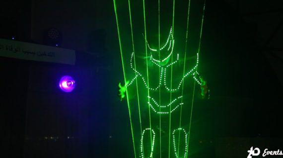 Laserman show in the UAE