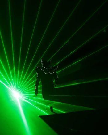 Laserman show in the UAE