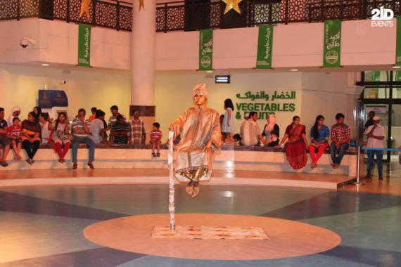 Levitation statue in the UAE