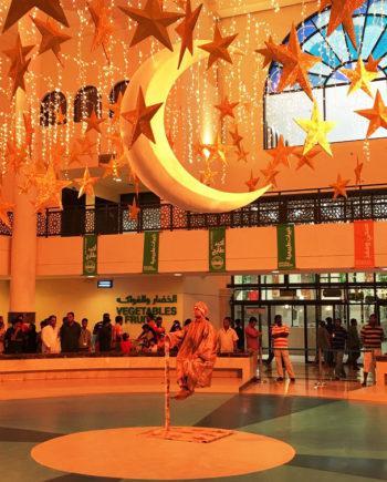 Levitation statue in the UAE