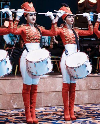 Theatrical drummers show in Dubai