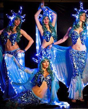 Beautiful LED mermaids in Dubai