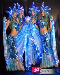 Beautiful LED mermaids in Dubai