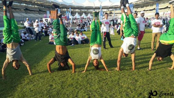 Capoeira group in the UAE