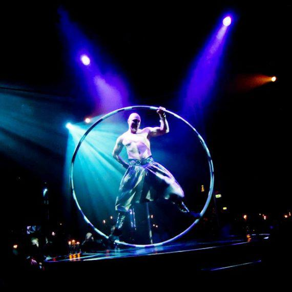 Cyr wheel acrobat in Dubai