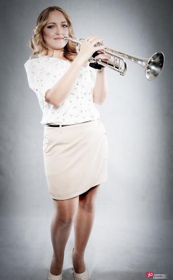 Female trumpet player in Dubai